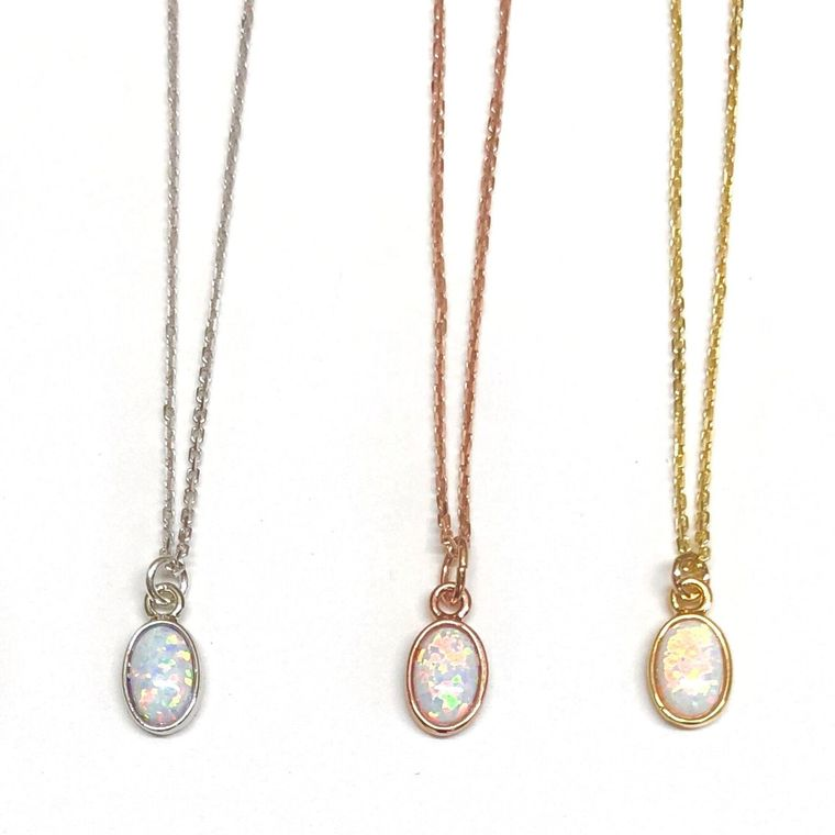 Opal Necklace-Sterling Silver