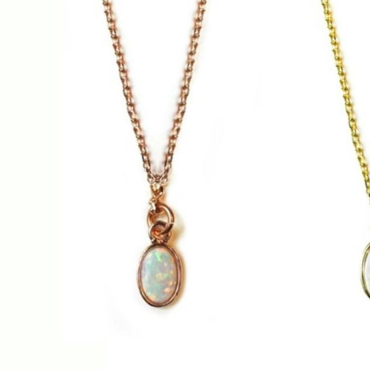 Opal Necklace-Rose Gold