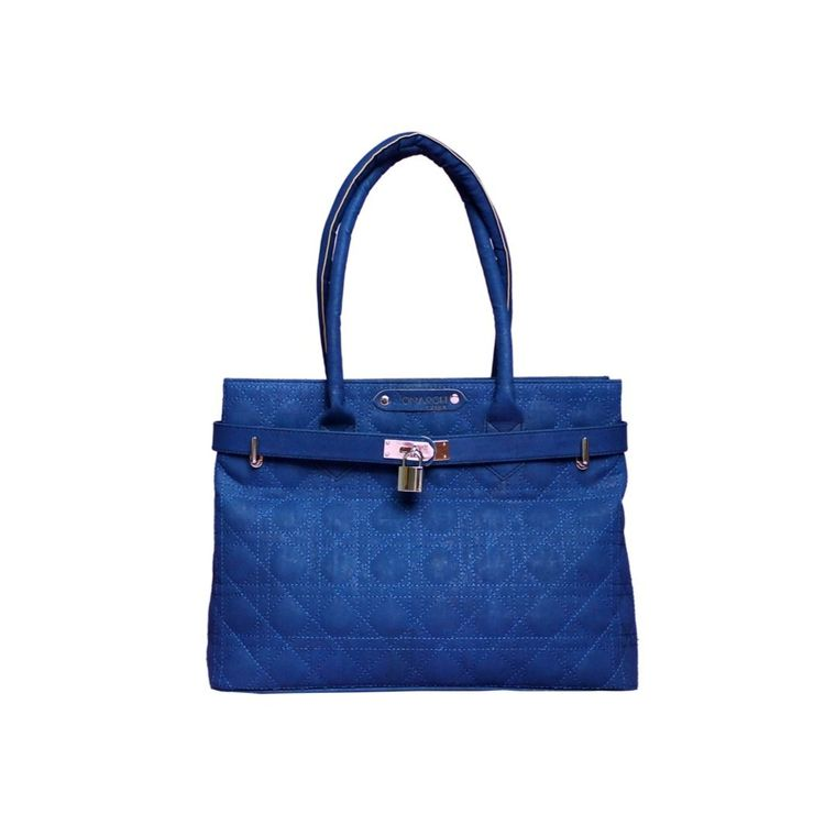 The Smyrna Bag- Sapphire Blue Cork Handbag