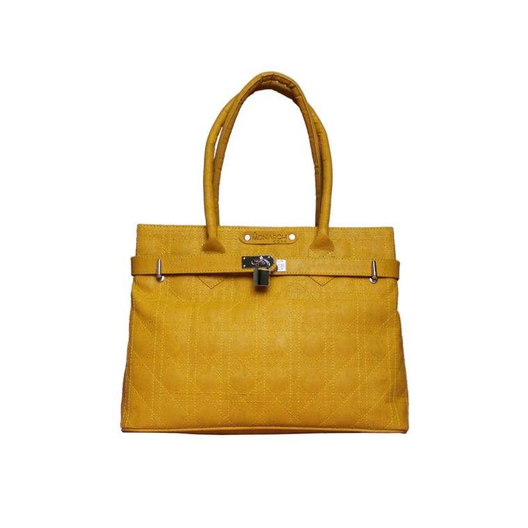 The Smyrna Bag-Sunshine Yellow Cork Handbag