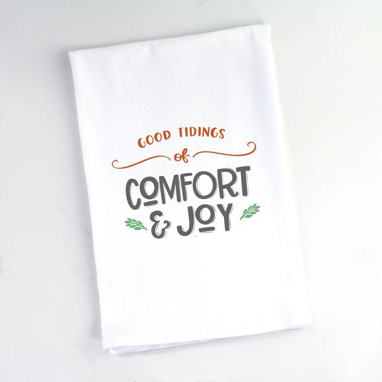 Good Tidings of Comfort & Joy Flour Sack Towel