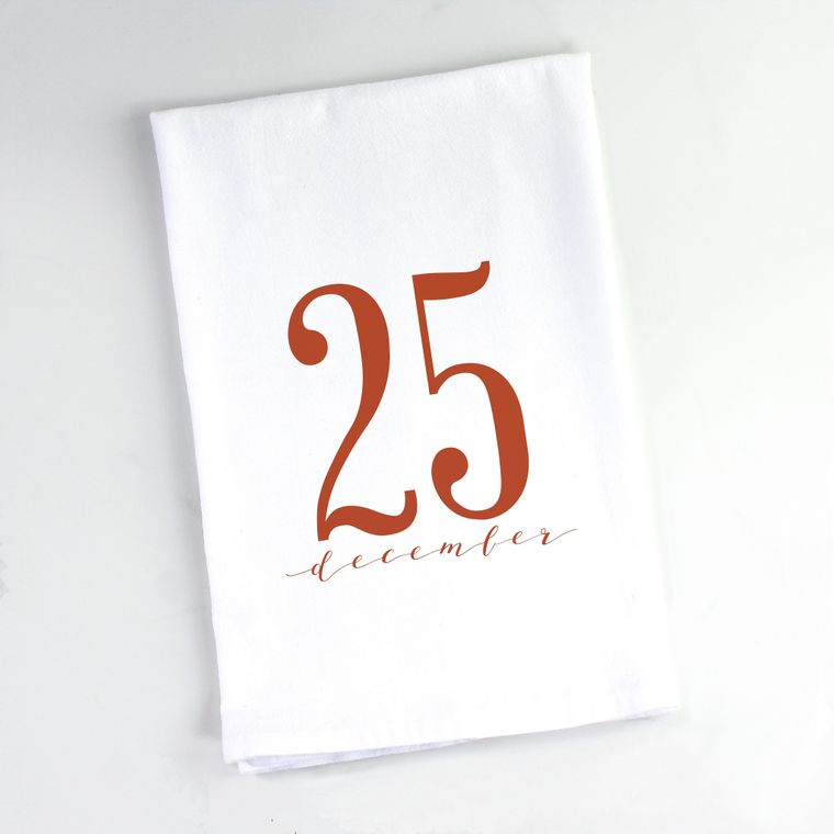 25 December Christmas Flour Sack Towel