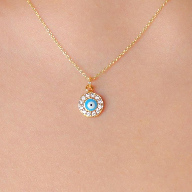 Indie Charm Necklaces-Evil eye
