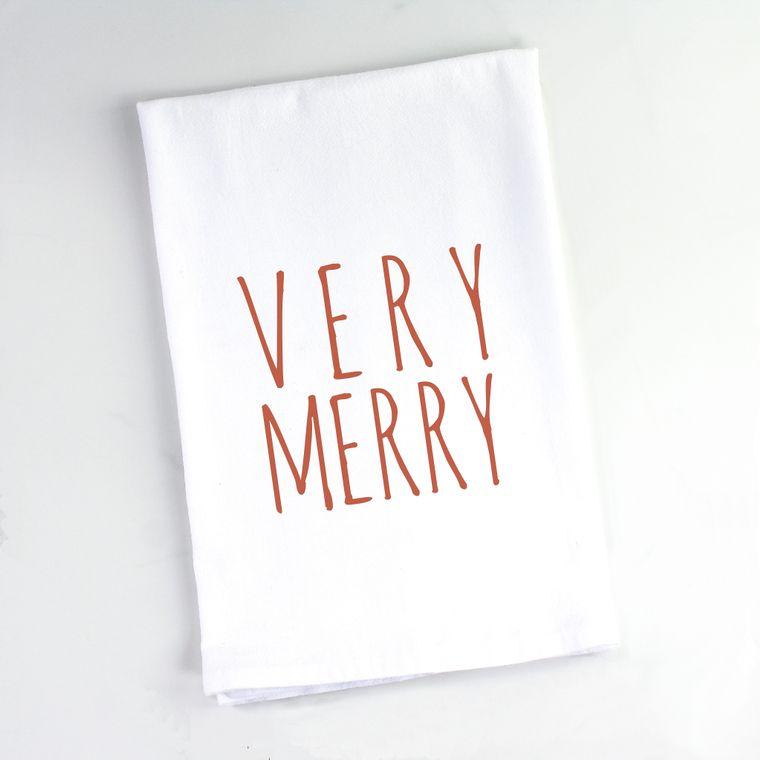 Christmas Very Merry Flour Sack Towel