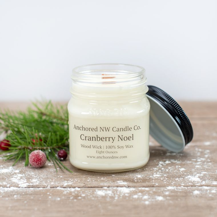 Cranberry Noel 8oz Mason Jar