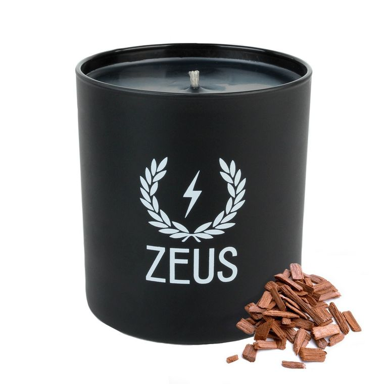 Zeus Scented Soy Blend Candle- Sandalwood