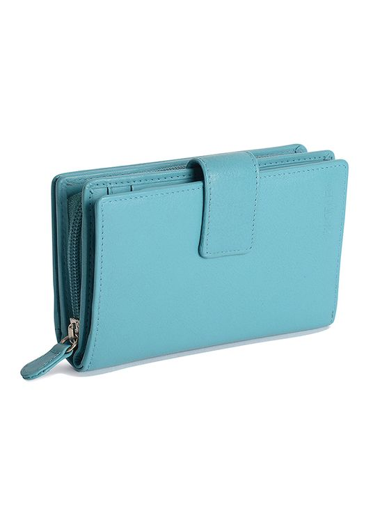 SADDLER Womens Real Leather High Volume Womens Tab Wallet - Zipper Coin Purse