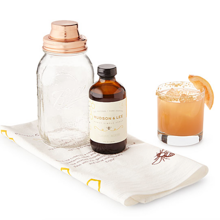 Hudson & Lee Mason Jar Cocktail Shaker Gift Box