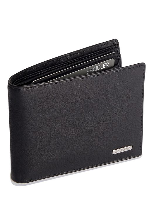 SADDLER Mens Nappa Leather Billfold Wallet - 12 Credit Card & ID Holder - Black