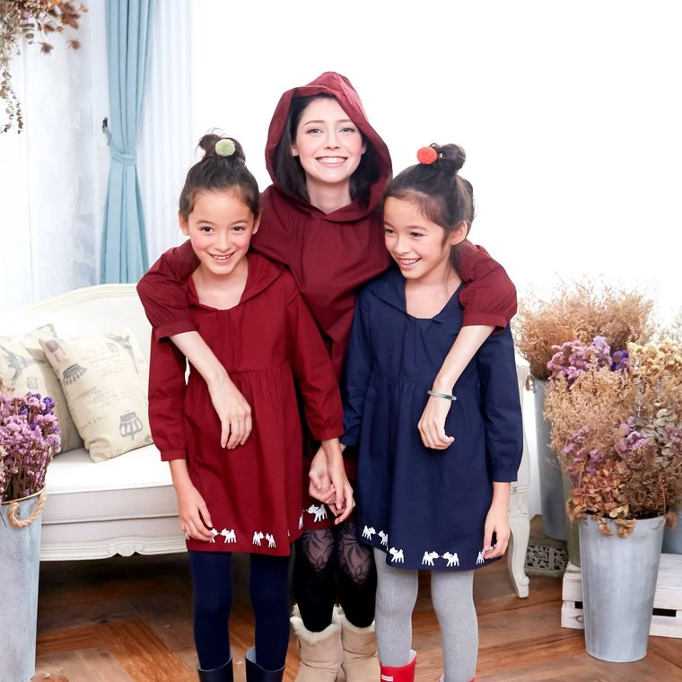 (Mommy & Me) Deer Hooded Fit & Flare Dress (infant/toddler/girl/woman)