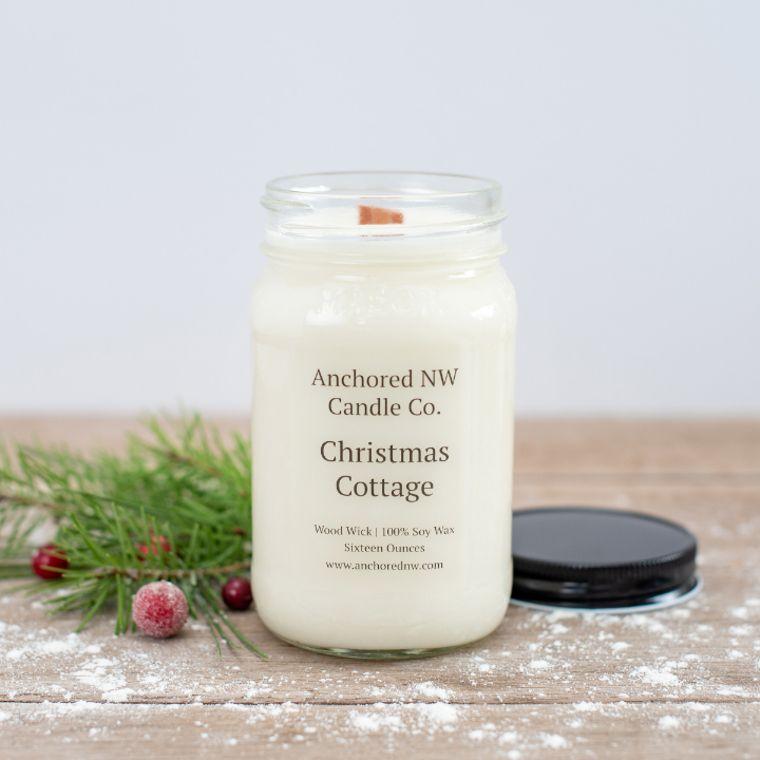 Mason Jar Soy Candle - Christmas Cottage (16 oz.)