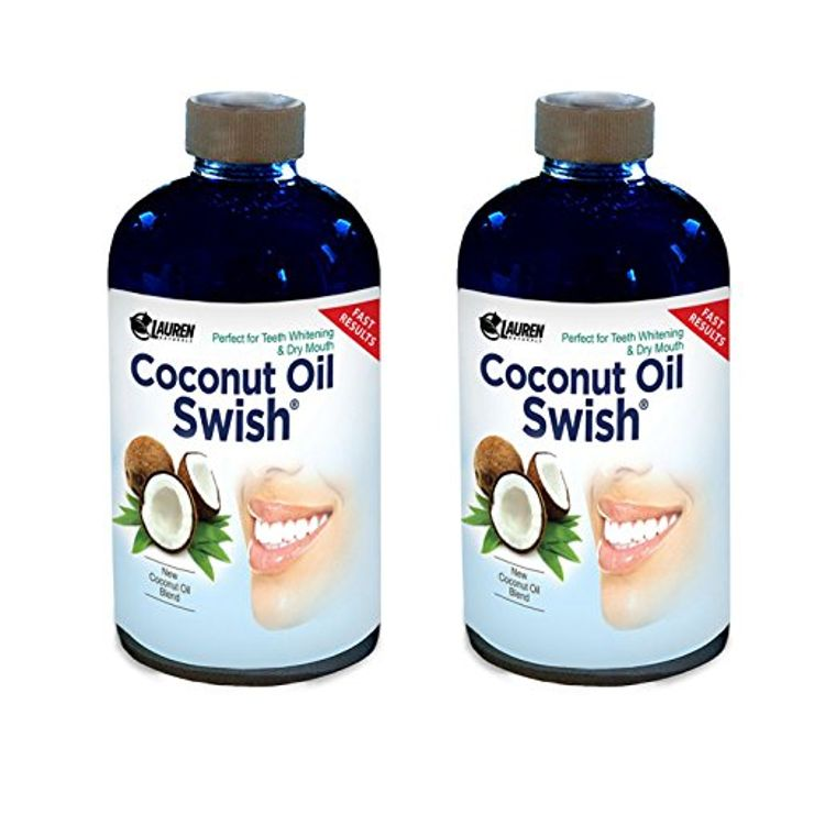 Coconut Oil Swish: Coconut Oil Pulling and Mouthwash for Teeth Whitening & Oral Detox - 16 oz