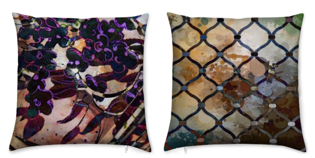 Mended Fence Throw Pillow