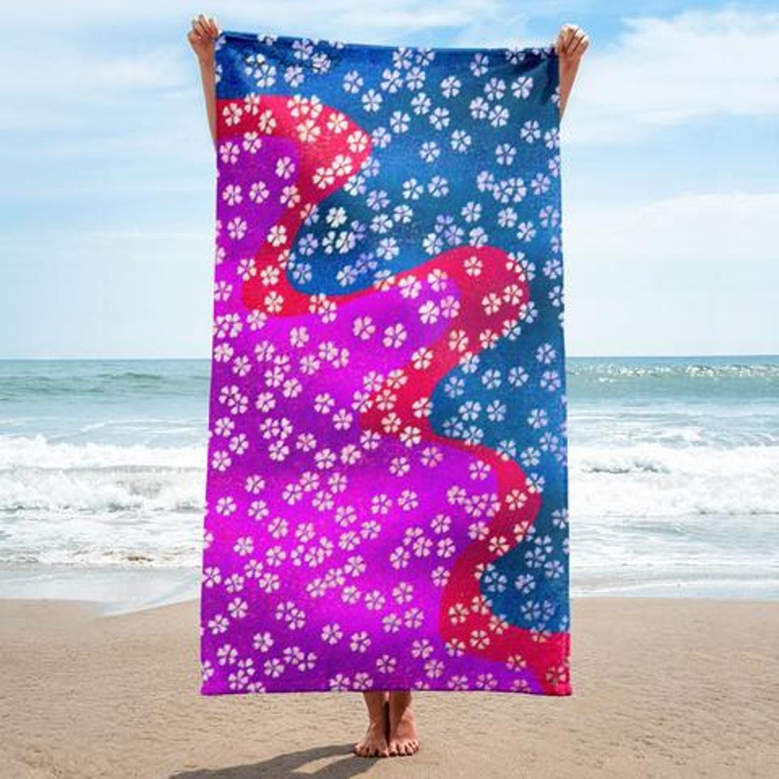 Paris METRO Coutre: Original Art Beach Towels