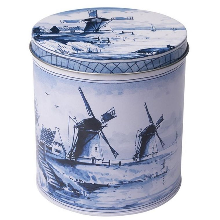 Authentic Dutch Windmill Stroopwafel Tin