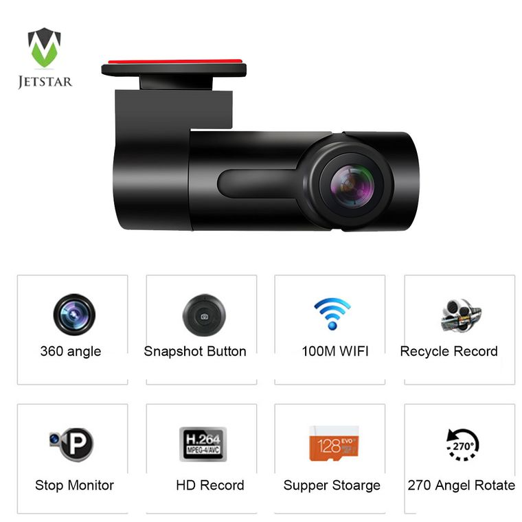 360 angle WIFI dash camera,Android/IOS APP
