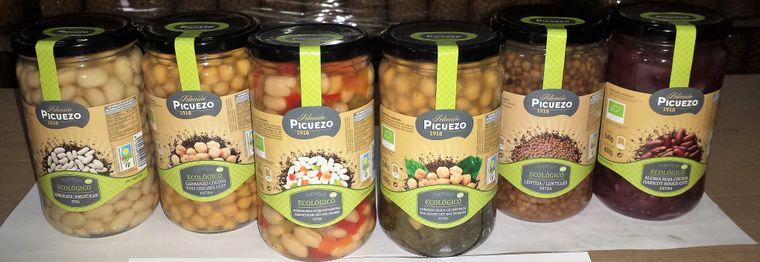 Bio white bean with vegetables