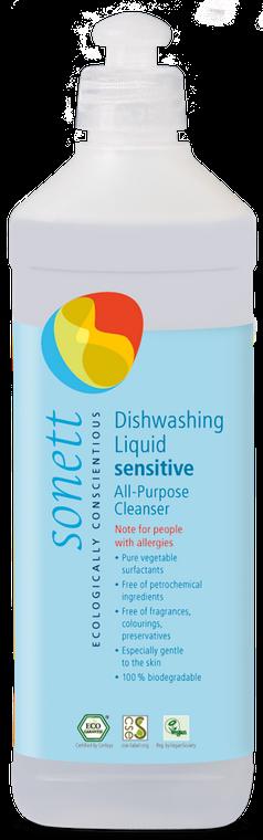 Sonett Eco Sensitive Dishwashing/All purpose Cleanser 17 fl oz / 500 ml