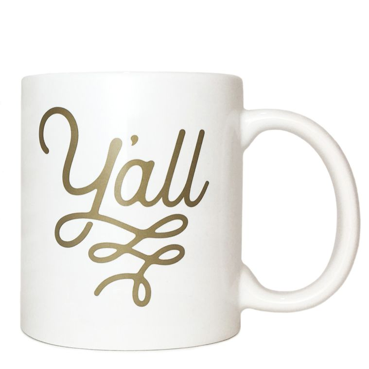 Y'all Gold Flourish Texas Coffee Mug 11 oz