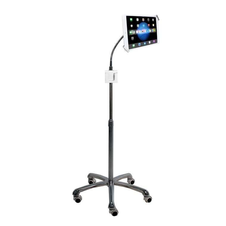 Heavy-Duty Security Gooseneck Floor Stand for 7-13 Inch Tablets