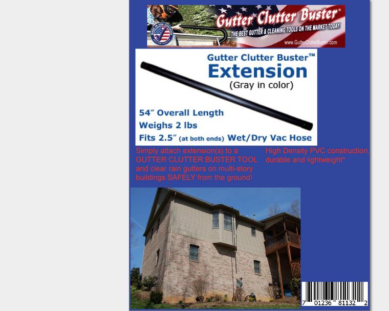 Gutter Clutter Buster Extension/Hardware
