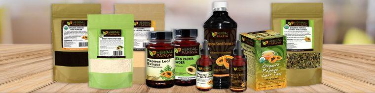Herbal Papaya 100% Organic, Non GMO Health & Wellness Products