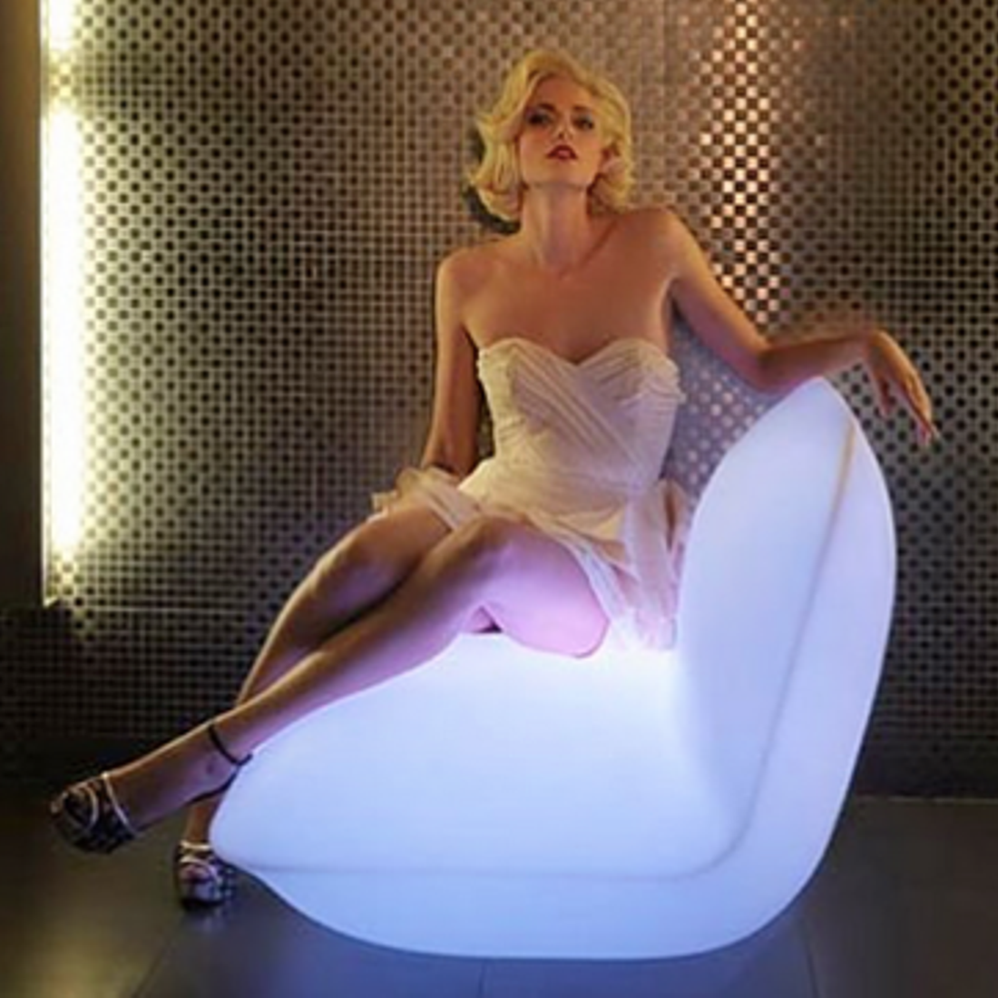 Pillow Chaise/ LED furniture