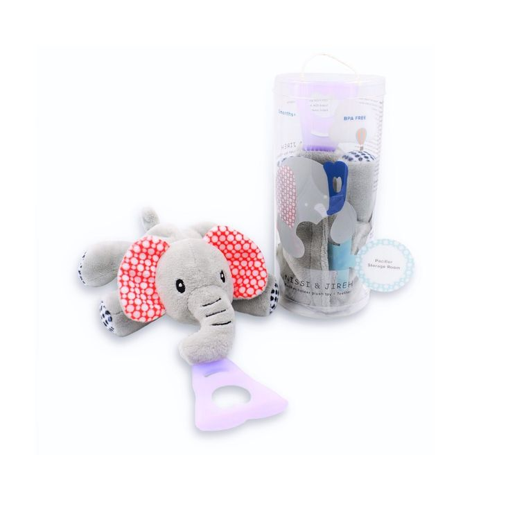 4 In 1 Pacifier holder Plush toy Teether