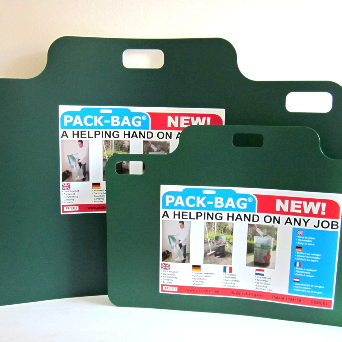 Pack-Bag® - Turn any bag into a garbage bin within a second.