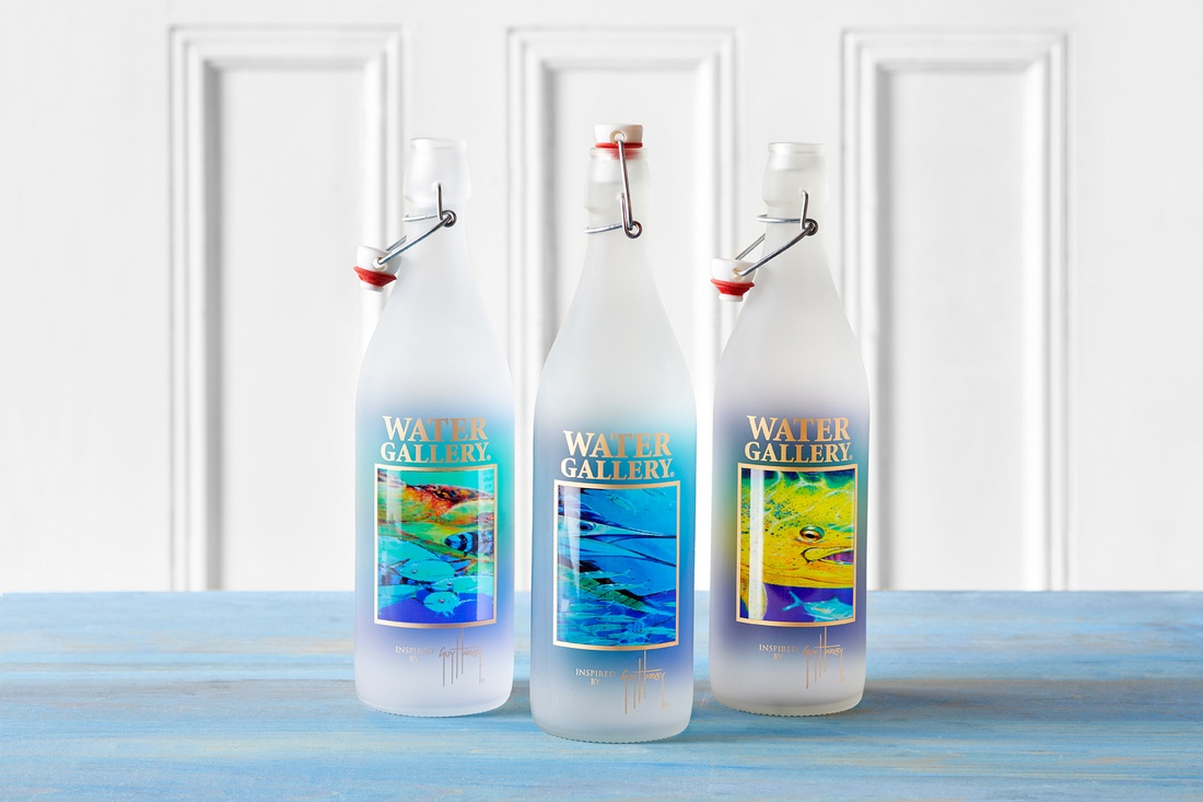 Guy Harvey Glass Water Bottles
