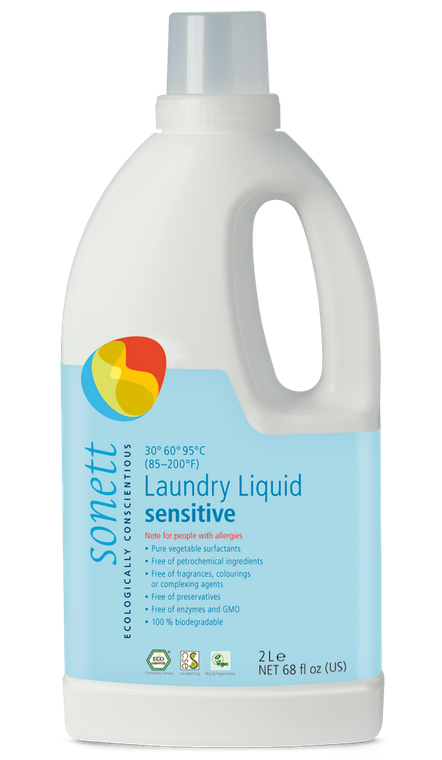 Sonett Eco Sensitive Laundry Liquid 68 fl oz / 2 Litres