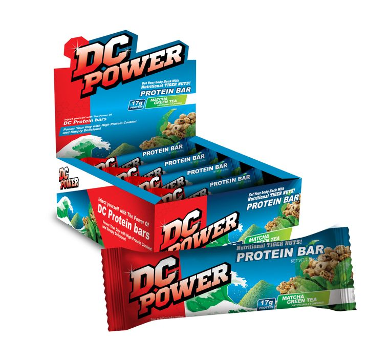 DC Power Matcha Green Protein Bar - (12) Bars Per Box