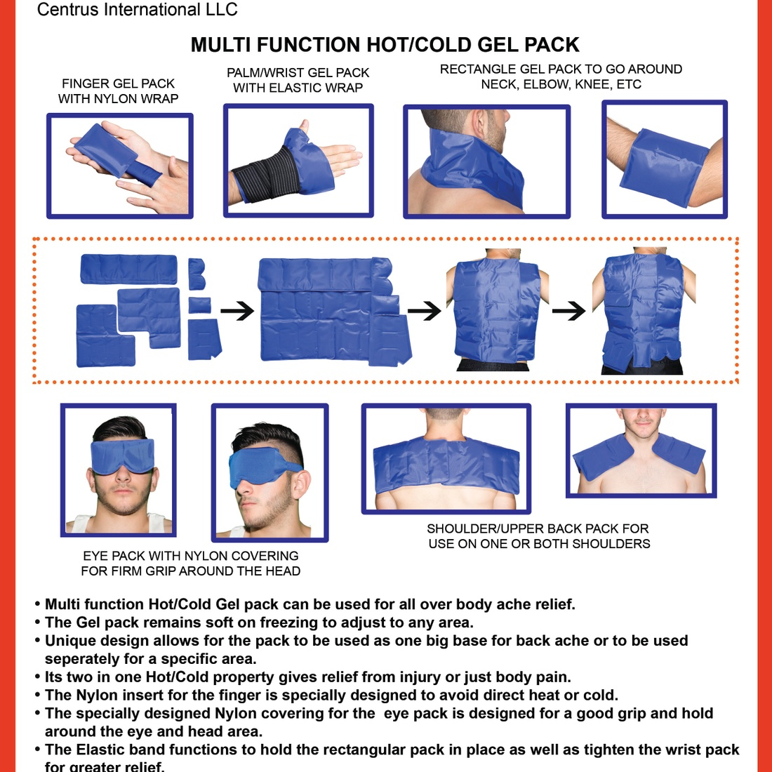 Hot & Cold Pain Relief Gel Pack (7 in 1)
