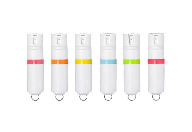 POM Pepper Spray Key - White
