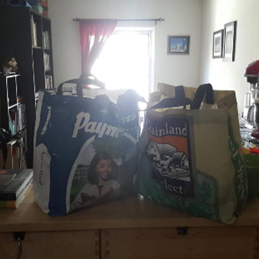 Farmers Market Feed Bag Totes