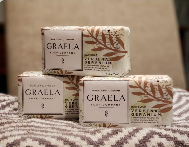 Graela Verbena Geranium Bar Soap
