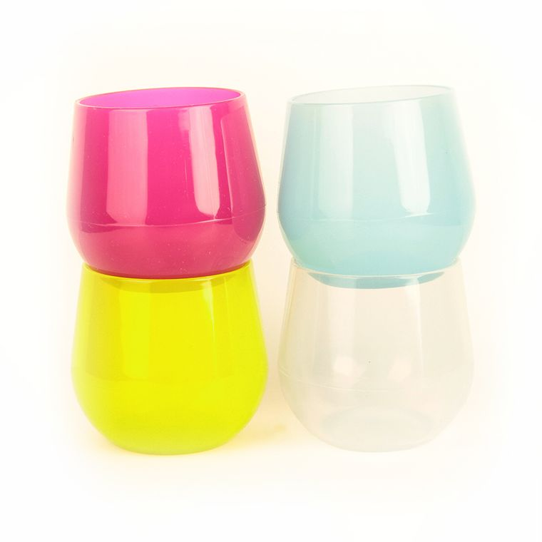 14 oz. Stemless Silicone Wine Glasses