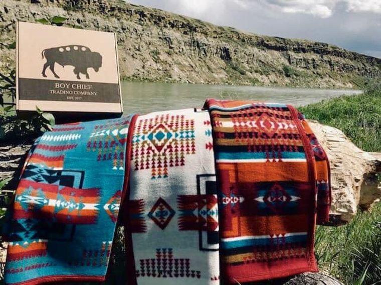 BLackfoot Peoples Mountain Blanket