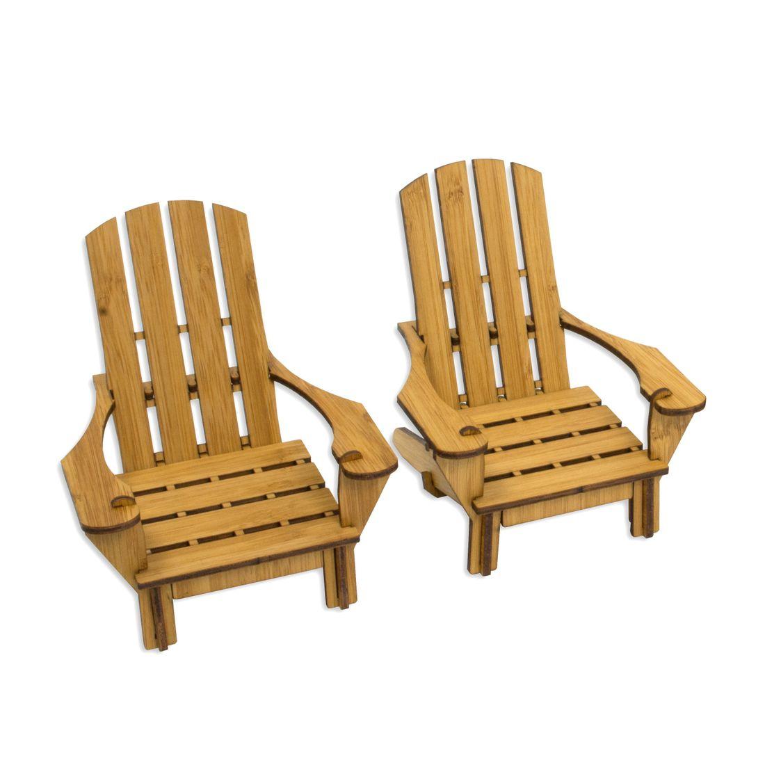 Wooden Adirondack Chair Coasters