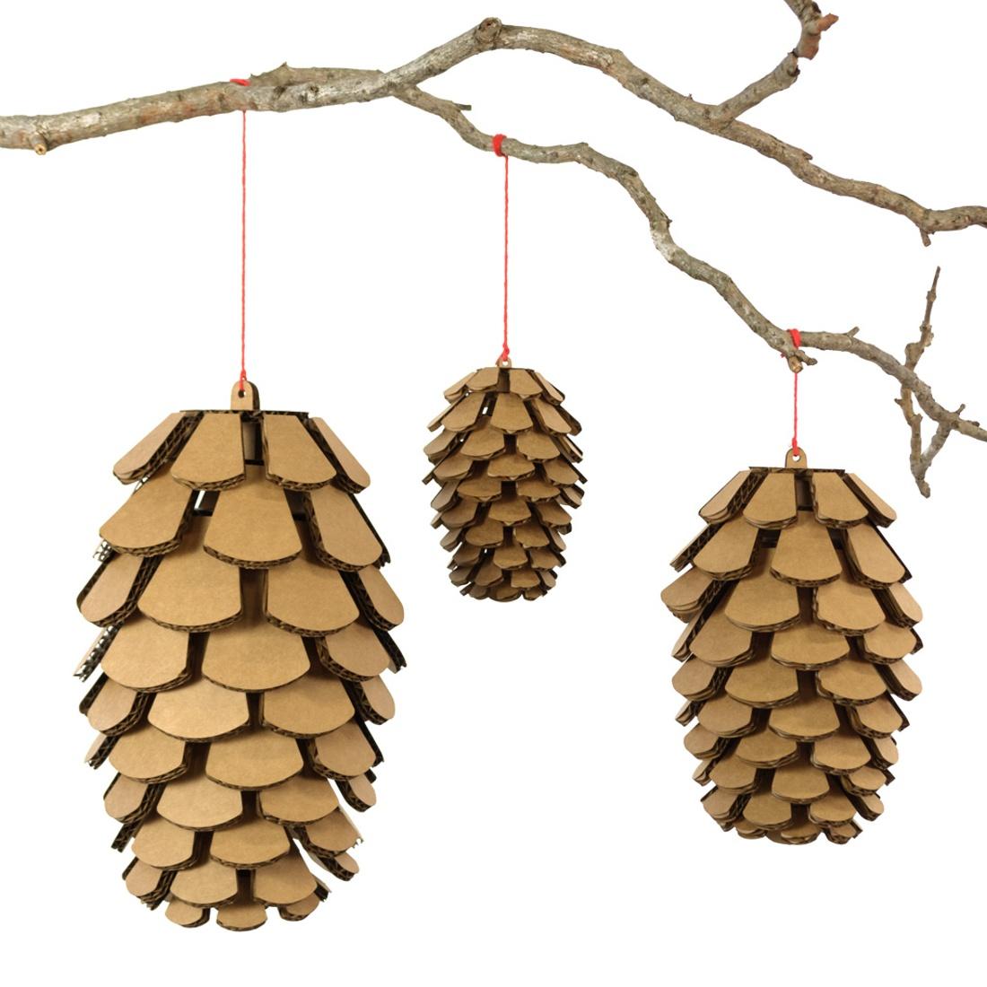 Cardboard Pine Cones