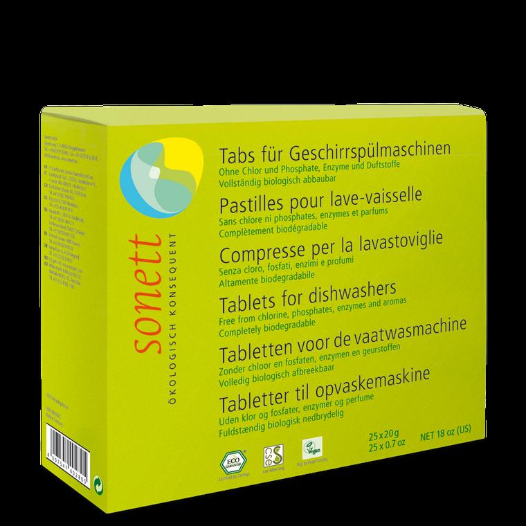 Sonett Eco Dishwasher Tablets 25 x 0.67 oz (total box weight 16.9 fl oz
