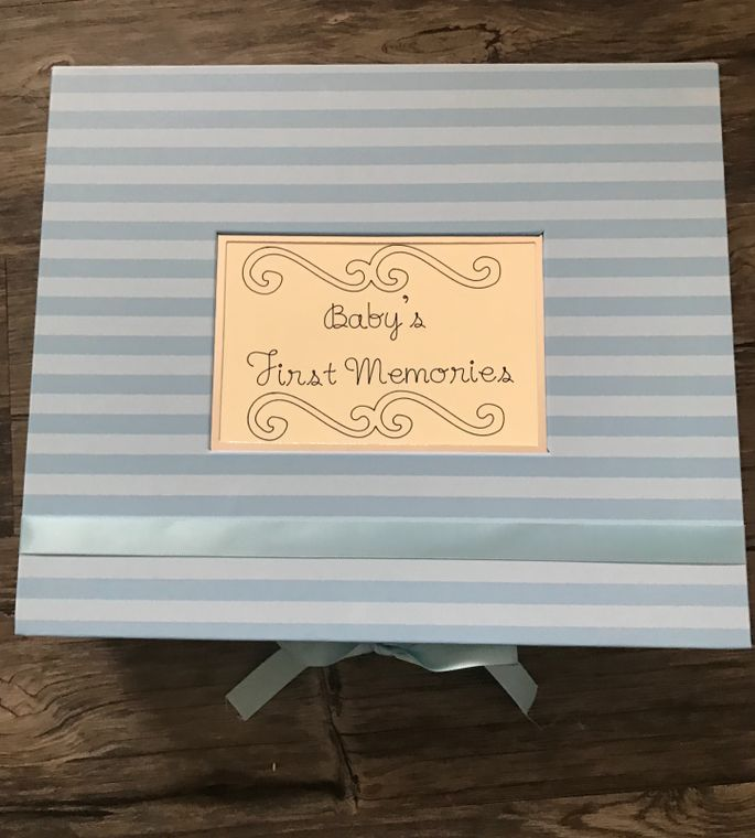 Blue Baby Keepsake Box