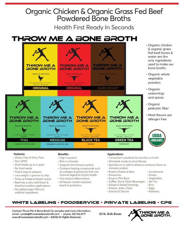 Organic & Grass Fed Bone Broth Powders
