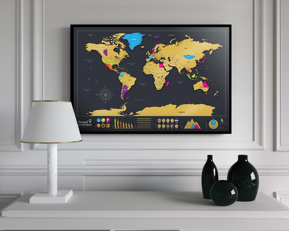 Scratch-Off World Travel Map