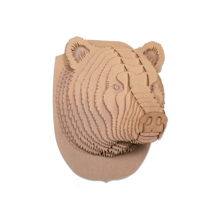Stewart The Cardboard Bear Head