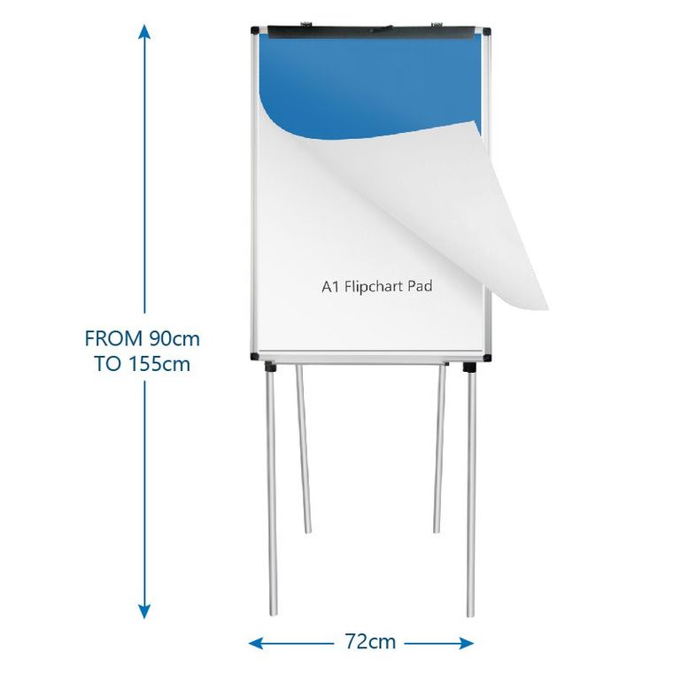 Portable Magnetic Four-leg Easel Whiteboard/Dry Erase Board Flipchart Easel/Adjustable Height