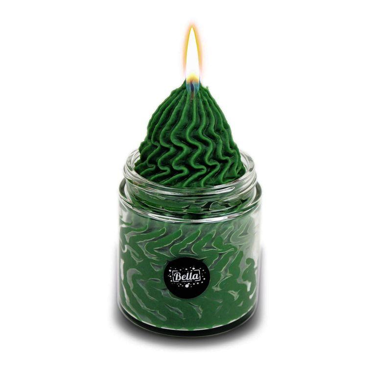Strong Green Whipped Cream Soy Dessert Jar Candle - Lemongrass