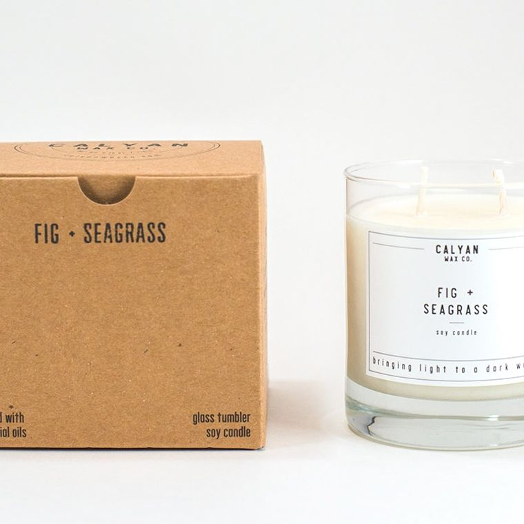 Glass Tumbler Soy Candle - Fig / Seagrass