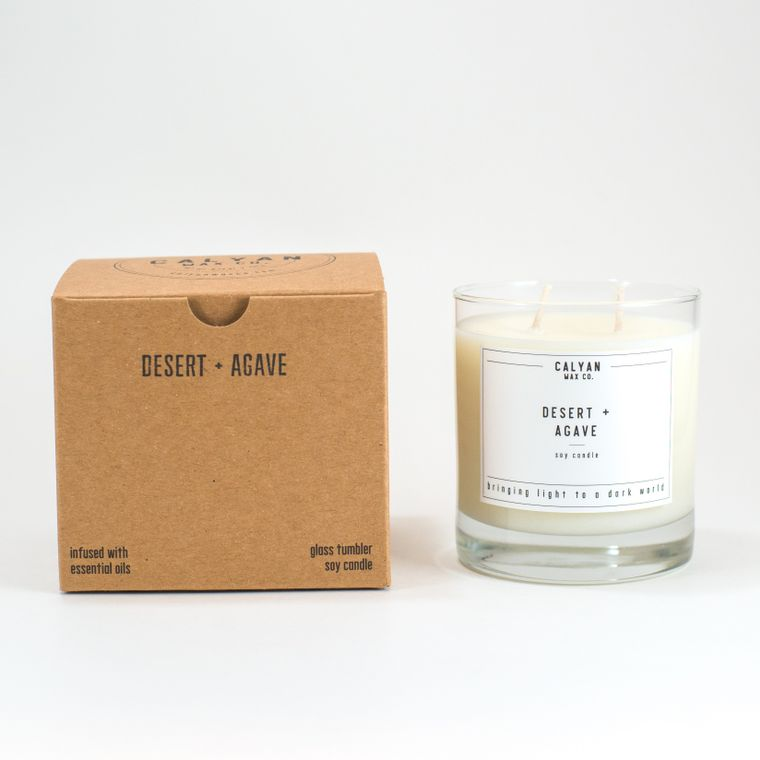 Glass Tumbler Soy Candle - Desert / Agave