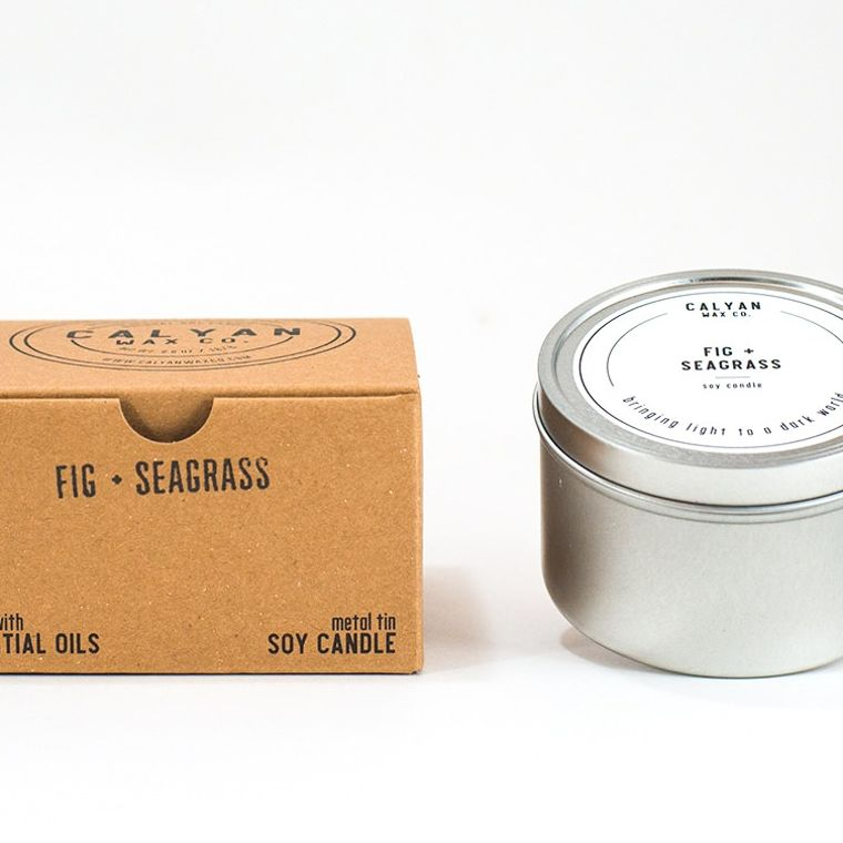 Metal Tin Soy Candle - Fig/Seagrass